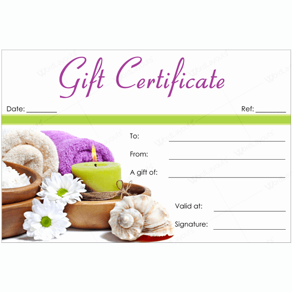 Massage Gift Certificate Template Word Lovely Bring In Clients with Spa Gift Certificate Templates