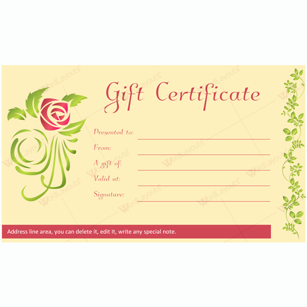 Massage Gift Certificate Template Word Lovely Gift Certificate 28 Word Layouts