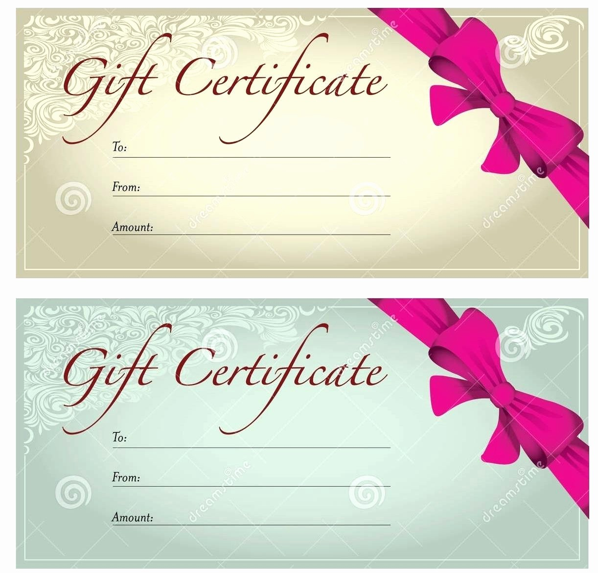 Massage Gift Certificate Template Word Lovely Template Gift Voucher Template for Word