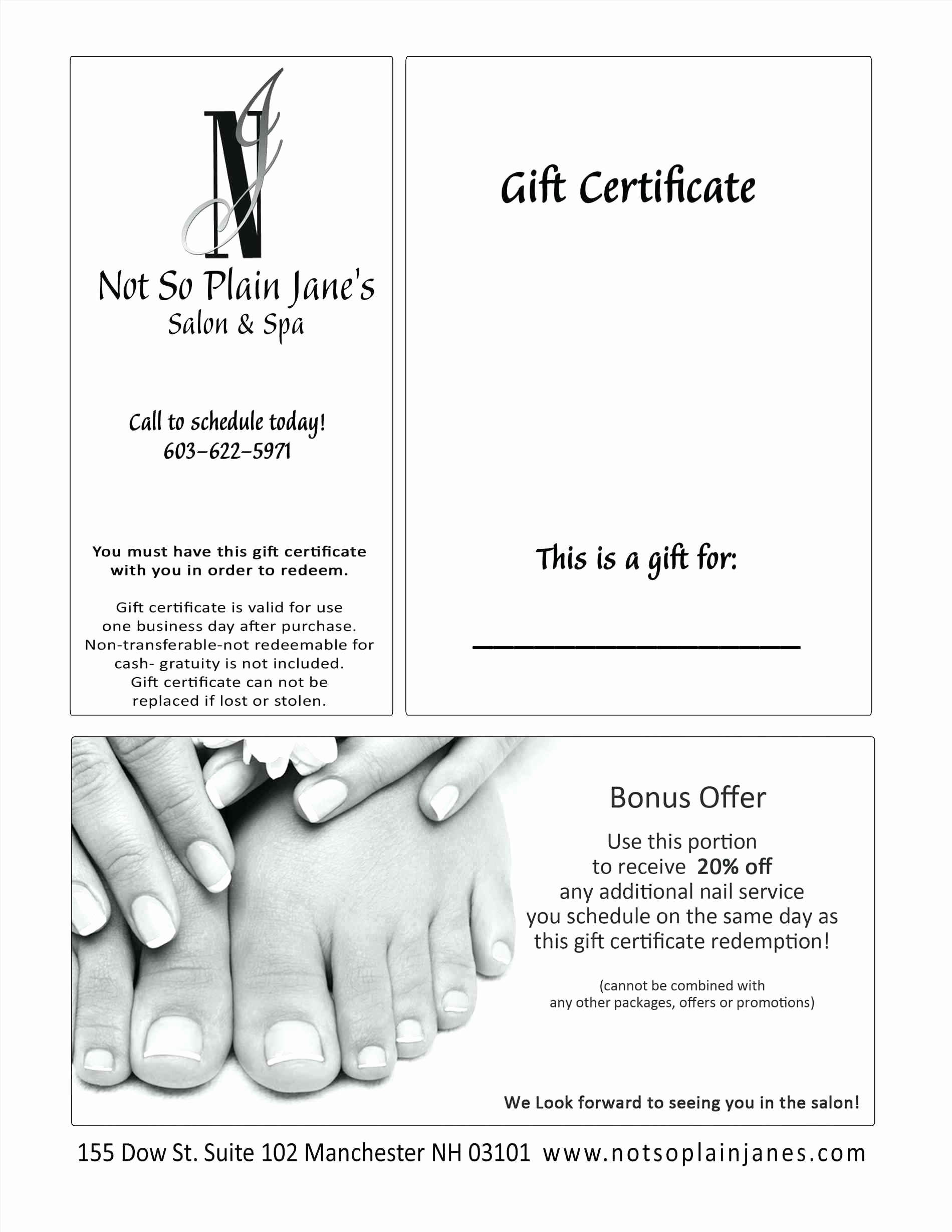 Massage Gift Certificate Template Word Lovely Template Massage Coupon Template