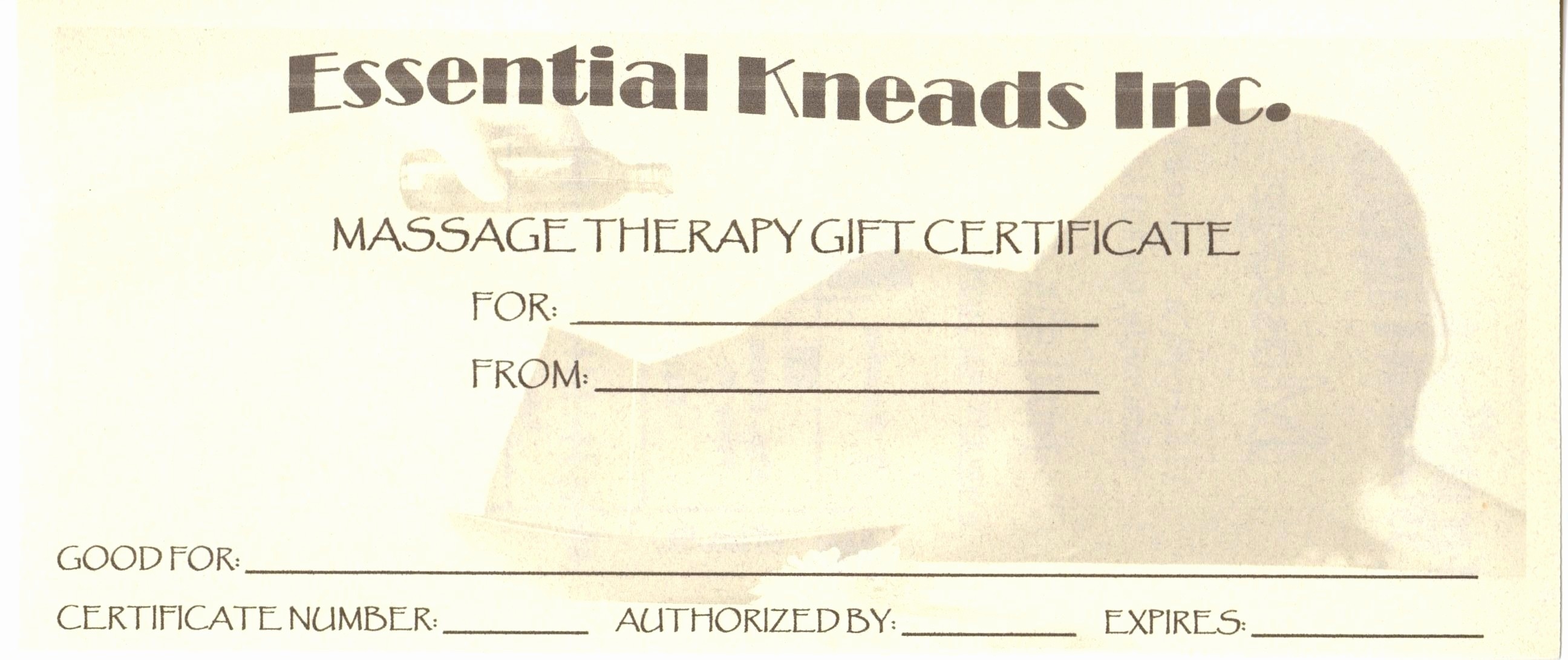 Massage Gift Certificate Template Word Luxury Template Printable Massage Gift Certificate Template