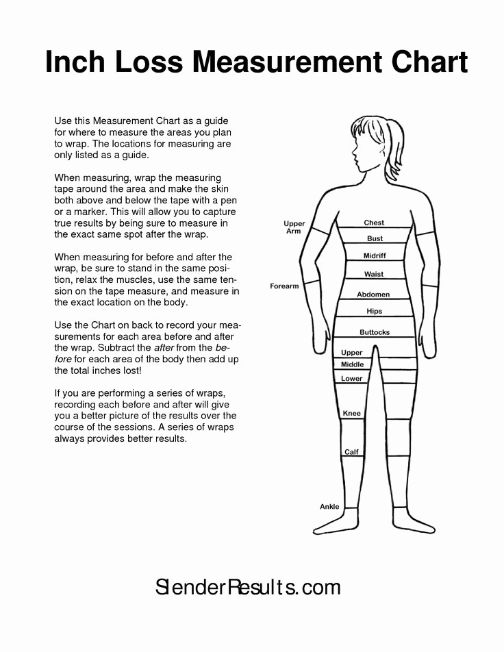 Measurement Chart for Weight Loss Best Of Best 25 Body Measurement Chart Ideas On Pinterest