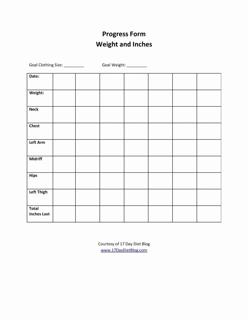 Measurements Chart for Weight Loss Lovely Weight and Inch Loss tools On Pinterest