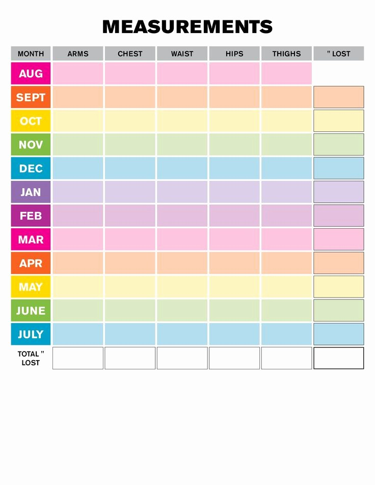 Measurements for Weight Loss Chart Best Of Best 25 Body Measurement Chart Ideas On Pinterest