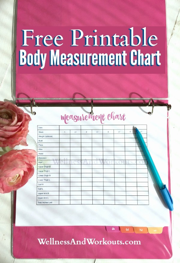 Measurements for Weight Loss Chart Elegant Free Printable Body Measurement Chart