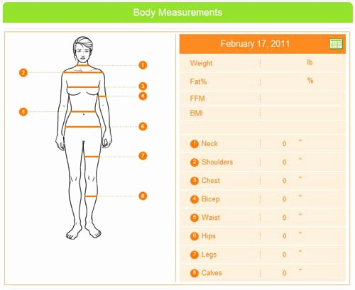 Measurements for Weight Loss Chart Elegant Importance Of A Fitness Journal