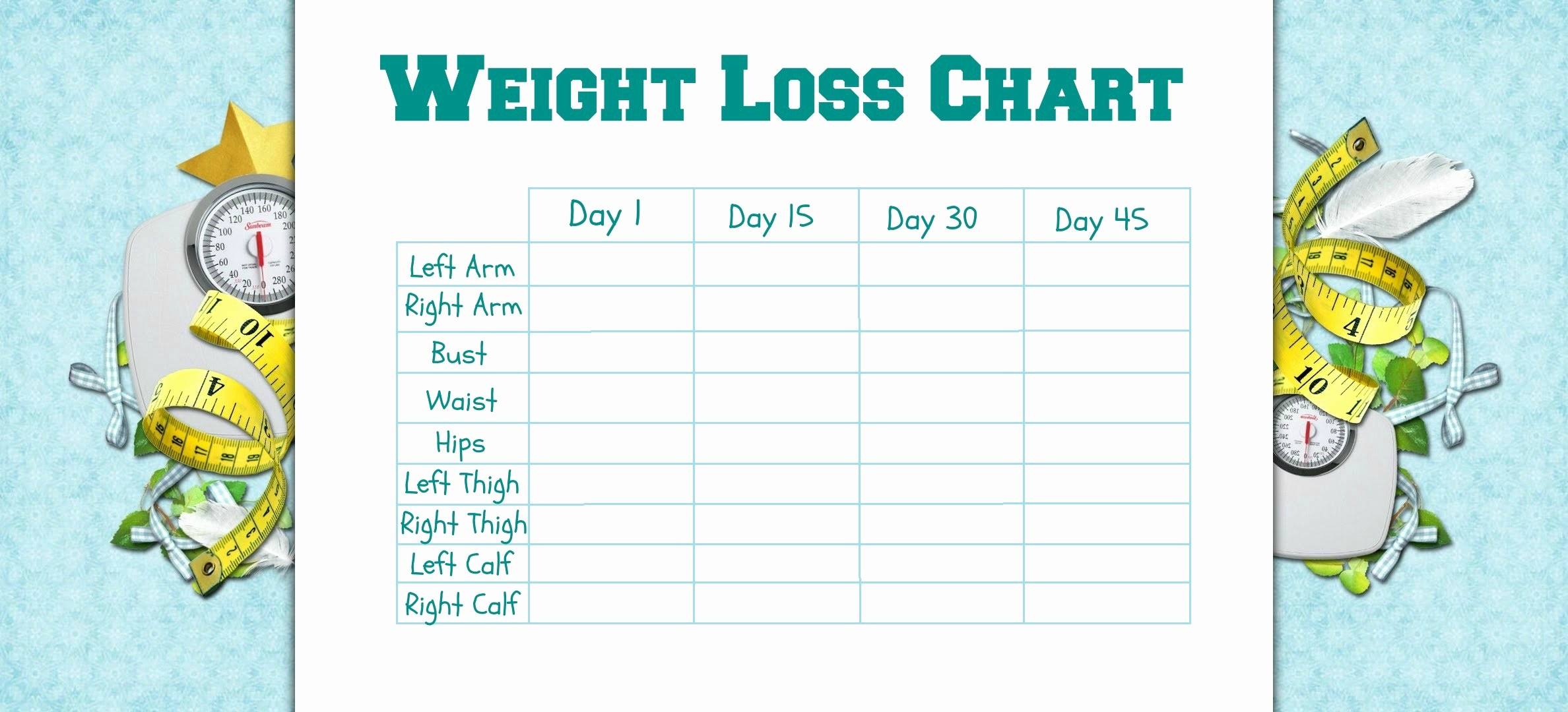Measurements for Weight Loss Chart Elegant New Years Resolutions An Example