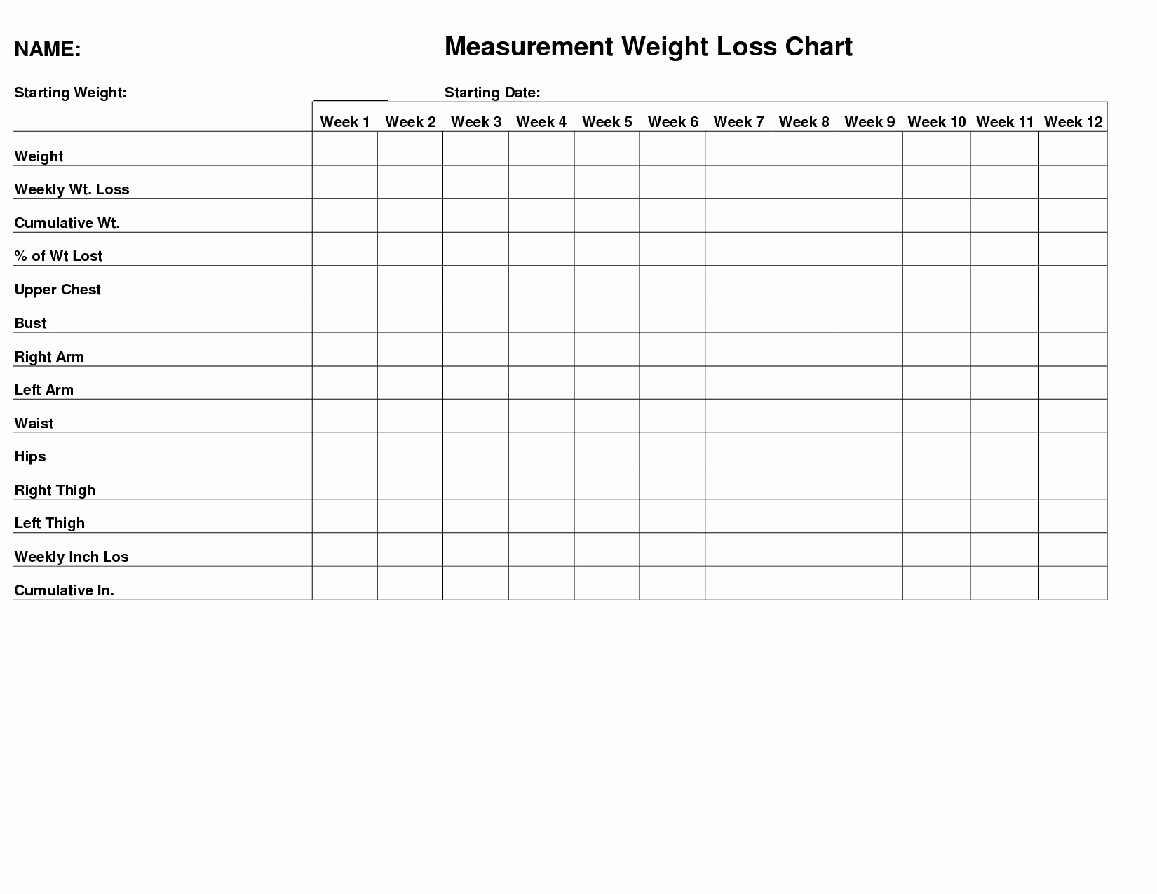 Measurements for Weight Loss Chart Elegant Weight Measurement Chart Google Search