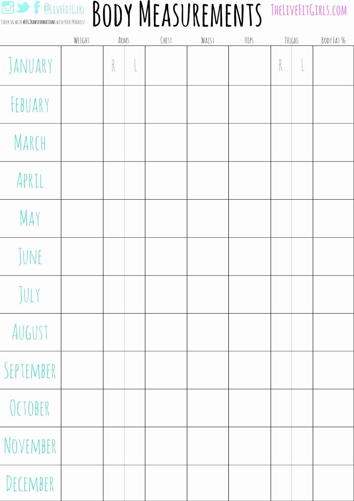 Measurements for Weight Loss Chart Inspirational Your Guide to Getting Started