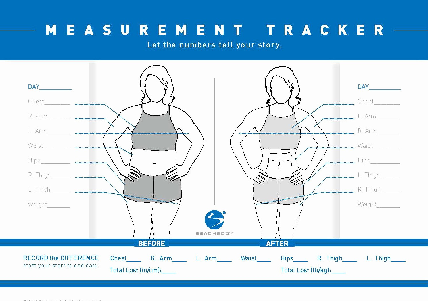 Measurements for Weight Loss Chart Lovely How to Take Accurate before and after Measurements Faith