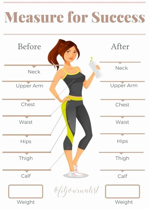 Measurements for Weight Loss Chart Lovely Measurement Tracker Health and Fitness