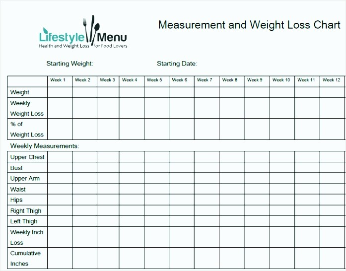 Measurements for Weight Loss Chart Unique 7 Body Measurements for Weight Loss Chart Tipstemplatess