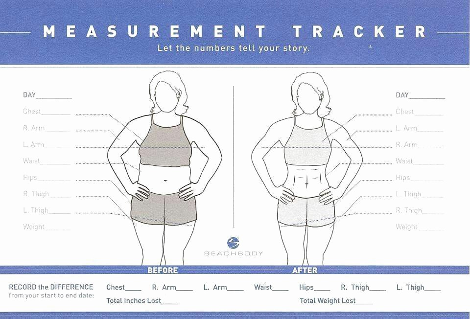 Measuring Chart for Weight Loss Awesome Fit Team Measurement Tracker Fitteam
