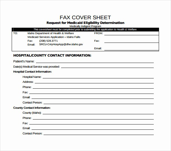 Medical Fax Cover Sheet Template Awesome 15 Sample Medical Fax Cover Sheets
