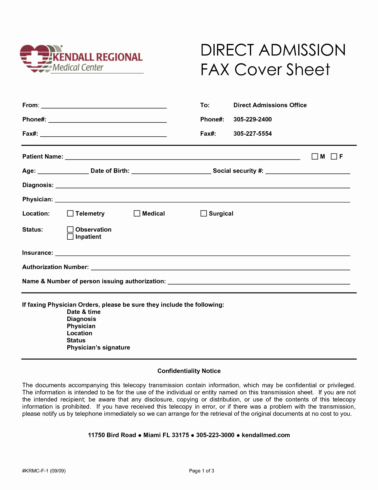 Medical Fax Cover Sheet Template Beautiful 8 Best Of Health Information Fax Cover Sheet