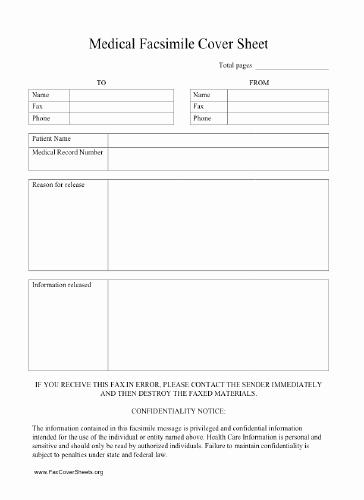 Medical Fax Cover Sheet Template Beautiful Hipaa Fax Cover Sheet