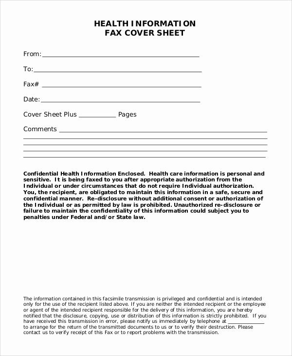 Medical Fax Cover Sheet Template Best Of 9 Blank Fax Cover Sheet Samples