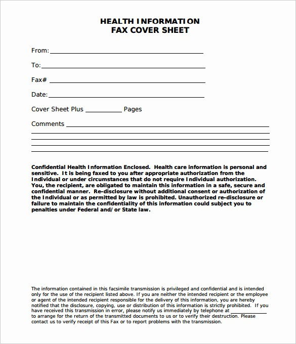Medical Fax Cover Sheet Template Inspirational Medical Fax Cover Sheet 9 Free Word Pdf Documents