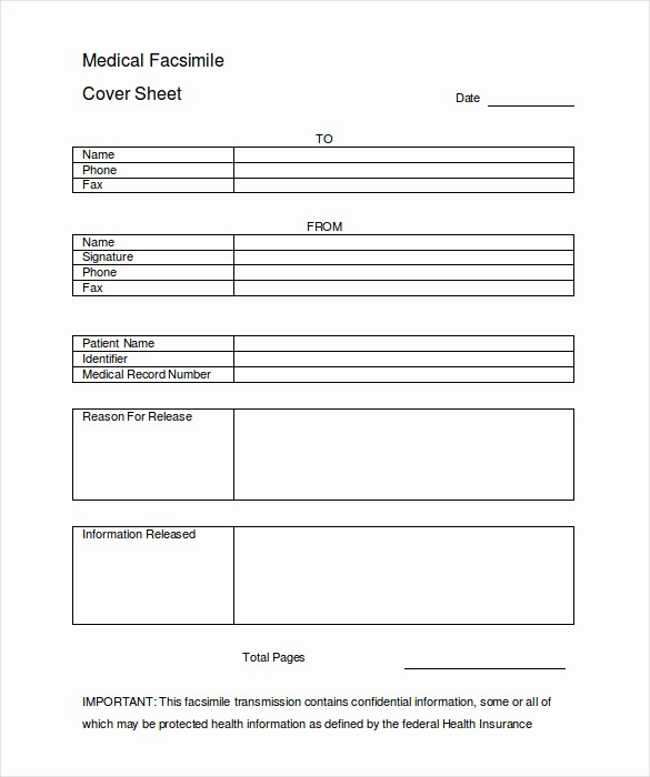 Medical Fax Cover Sheet Template Lovely 12 Cover Sheet Doc Pdf