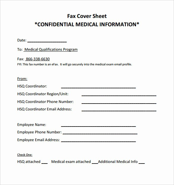 Medical Fax Cover Sheet Templates Beautiful 9 Confidential Fax Cover Sheet Templates Doc Pdf