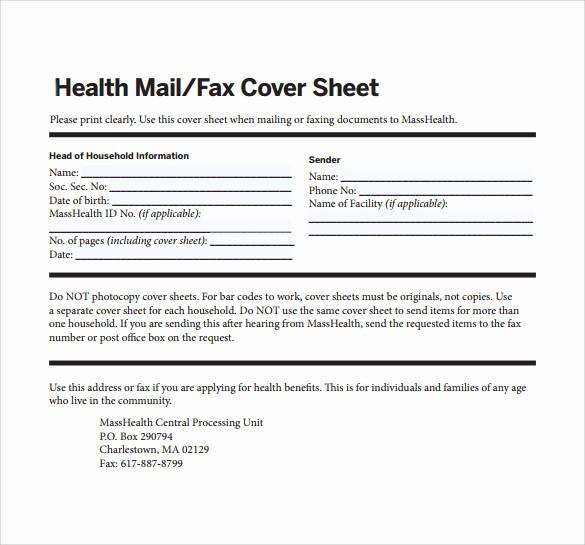 Medical Fax Cover Sheet Templates Elegant 12 Fax Cover Sheet Samples Templates Examples