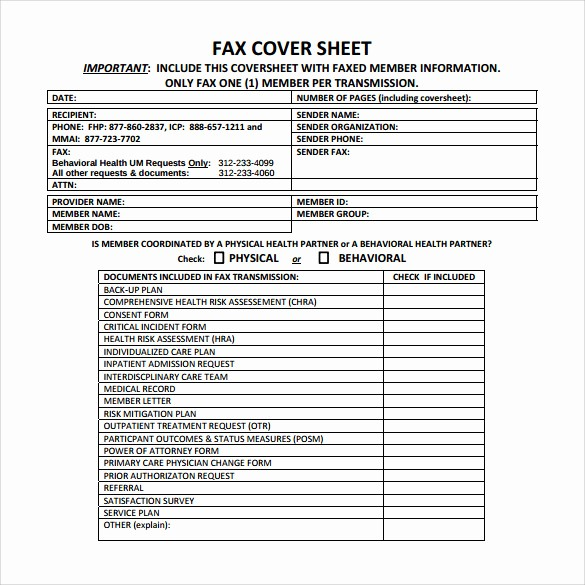 Medical Fax Cover Sheet Templates Fresh 15 Sample Medical Fax Cover Sheets