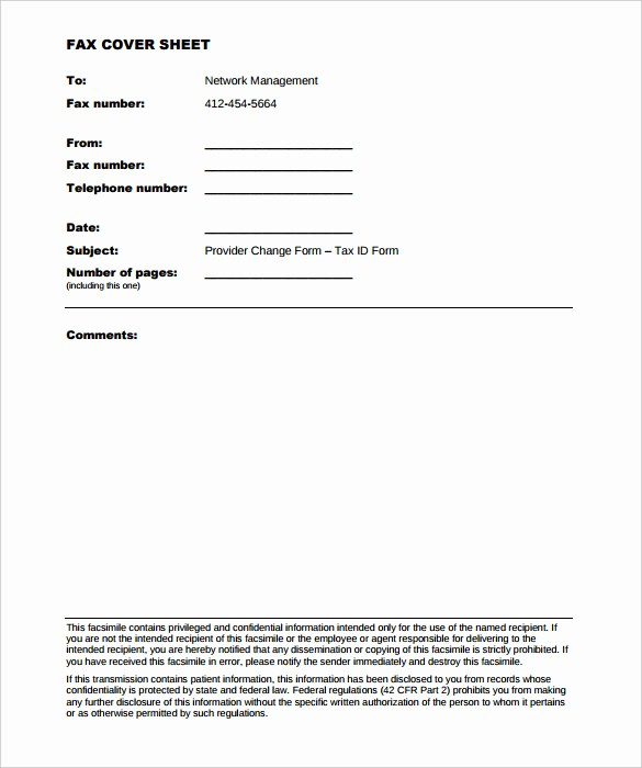 Medical Fax Cover Sheet Templates Fresh 6 Generic Fax Cover Sheet Templates Free Sample