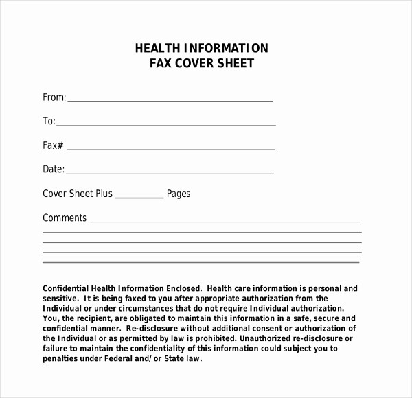Medical Fax Cover Sheet Templates Lovely Fax Cover Template – 9 Free Word Pdf Documents Dwonload