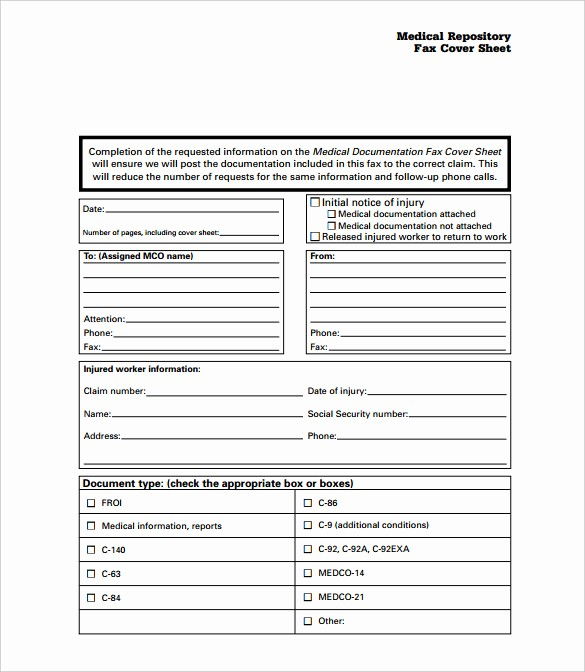 Medical Fax Cover Sheet Templates New Medical Fax Cover Sheet 9 Free Word Pdf Documents