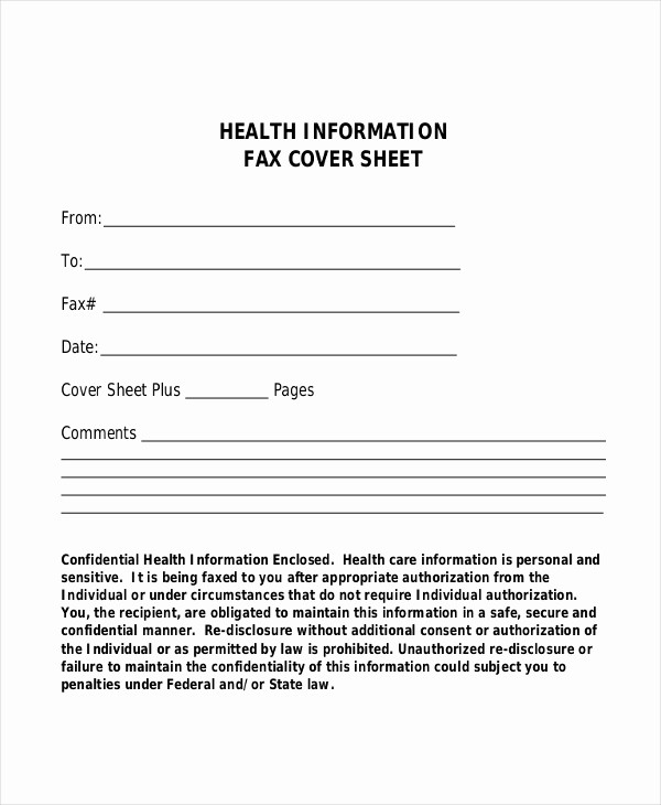 Medical Fax Cover Sheet Templates Unique Cover Sheet Template 3 Free Word Documents Download