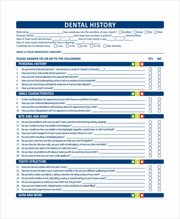 Medical History form Template Pdf Inspirational 10 Medical History Templates