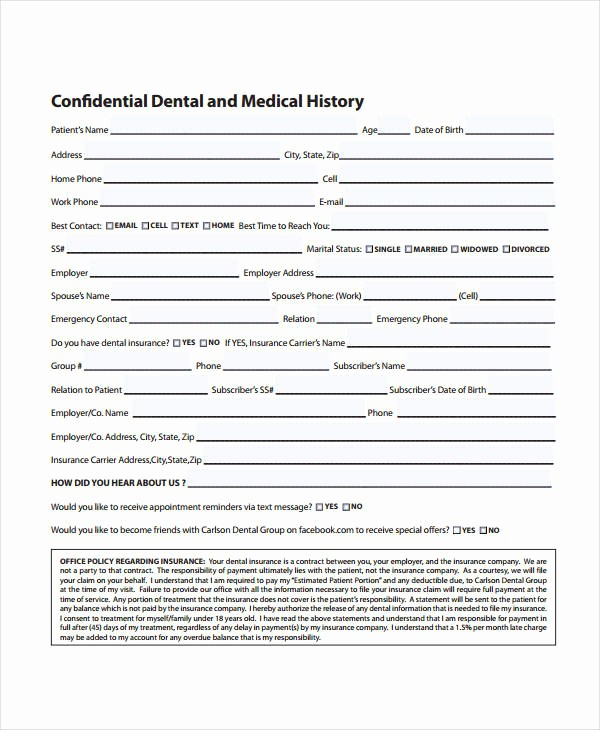 Medical History form Template Pdf Luxury Medical History form 9 Free Pdf Documents Download
