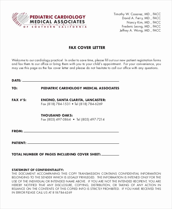 Medical Office Fax Cover Sheet New Fax Cover Letter 8 Free Word Pdf Documents Download