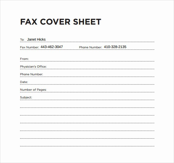 sample office fax cover sheet