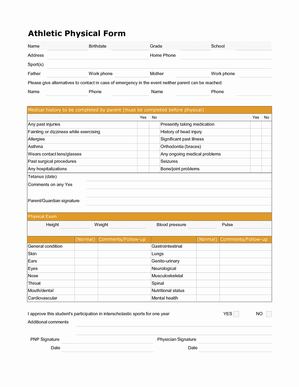 Medical Physical form for Employment New Similiar Printable Physical forms for Employment Keywords