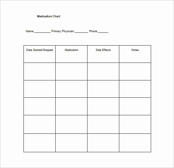 Medication Chart Template Free Download Beautiful 10 Medication Chart Template Free Sample Example