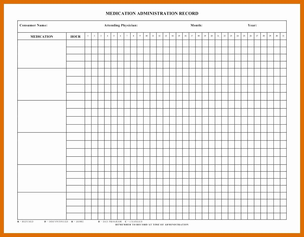 Medication Chart Template Free Download Inspirational 4 5 Free Printable Medication Chart
