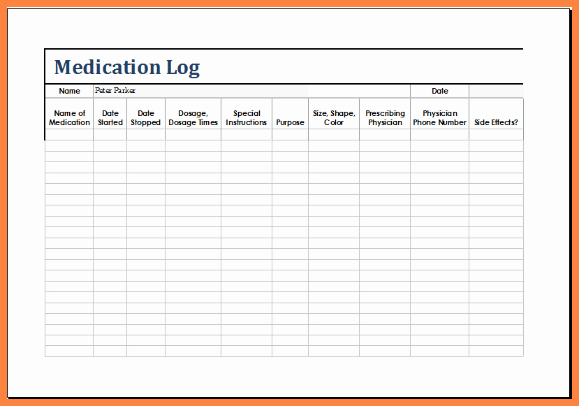 Medication Chart Template Free Download Lovely 12 Medication List Template