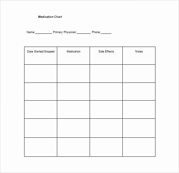 Medication Chart Template Free Download Lovely Free Printable Medication Schedule Chart Template Download