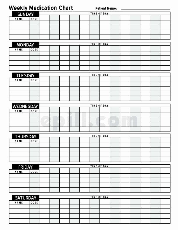 Medication Log Sheet for Patients Luxury Free Medication Schedule E Pill Medication Chart