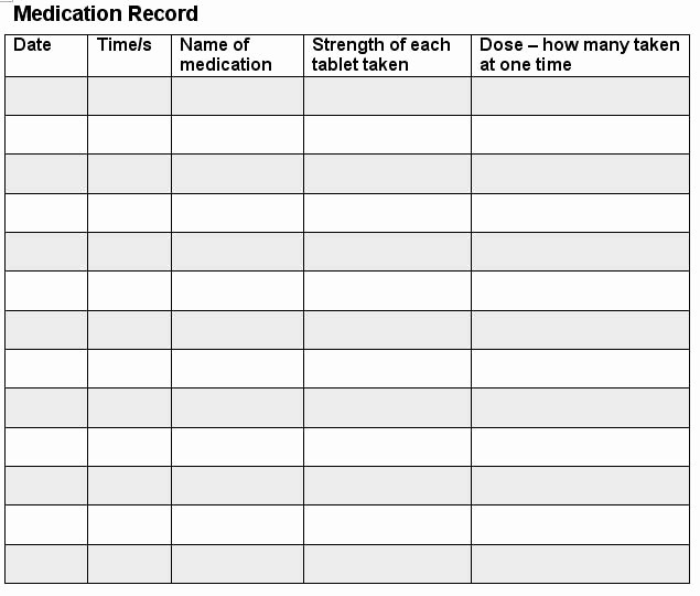 Medication Log Sheet for Patients New 7 Best Of Printable Medication Log Sheet