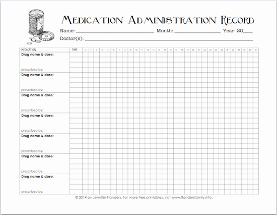 Medication Log Sheet for Patients New Free Printable Chart for Tracking Medicines