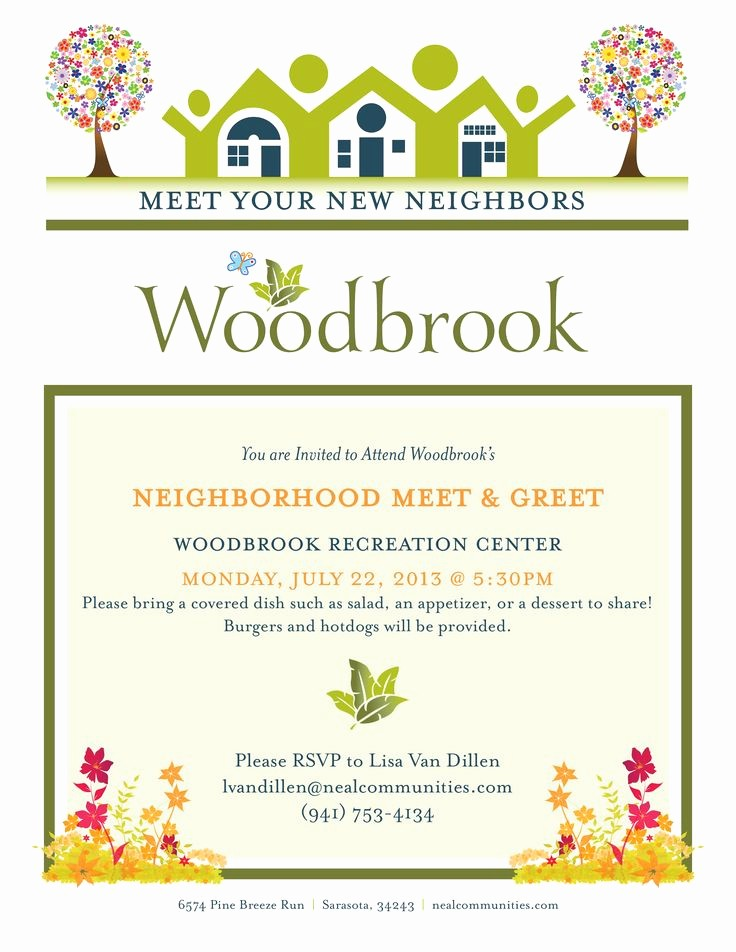 Meet and Greet Invitation Templates Awesome Client Neal Munities Project Neighborhood Meet