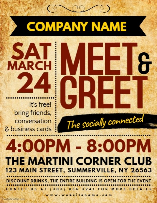 Meet and Greet Invitation Templates Beautiful Copy Of Meet & Greet Flyer