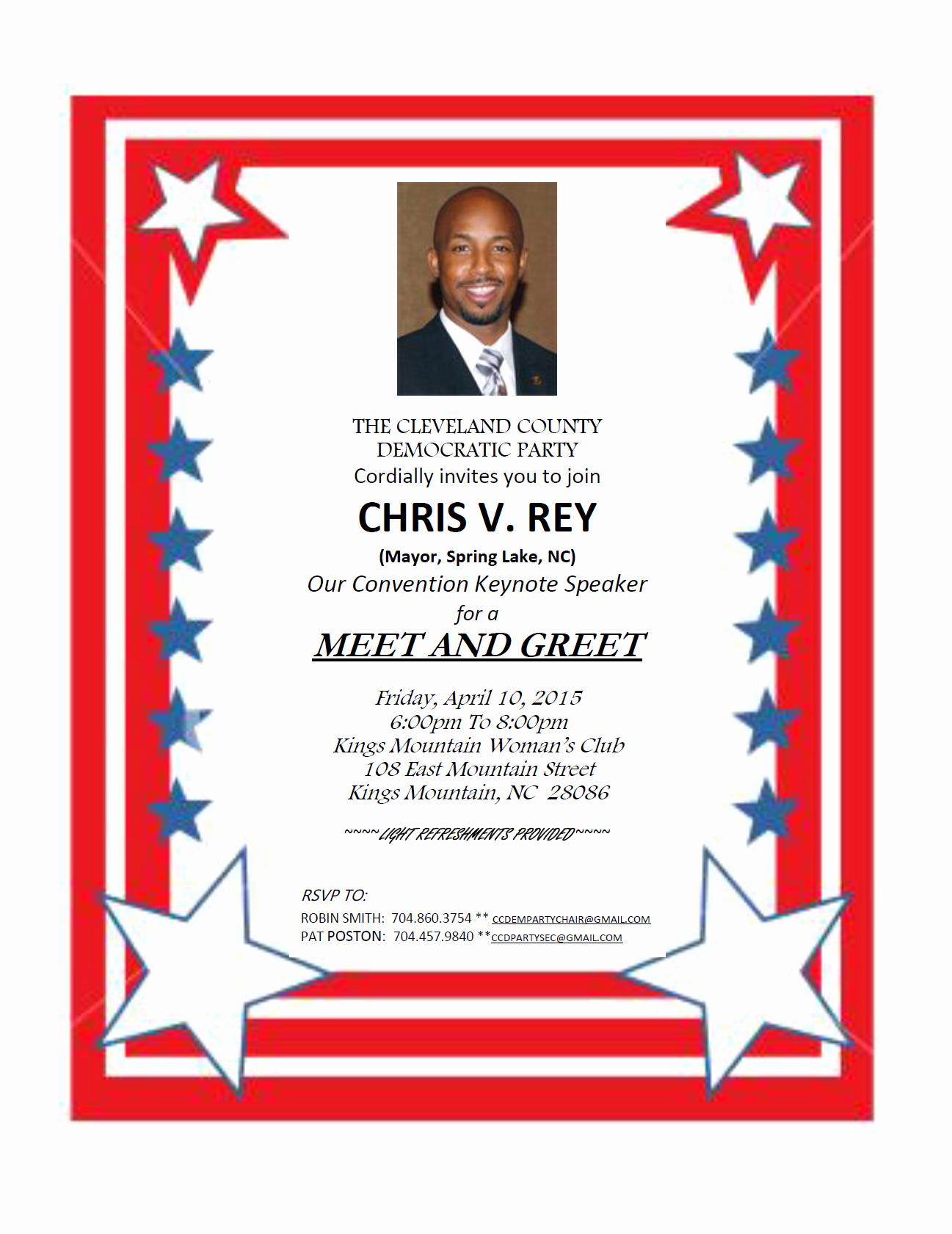 Meet and Greet Invitation Templates Beautiful Free Political Line Invitations
