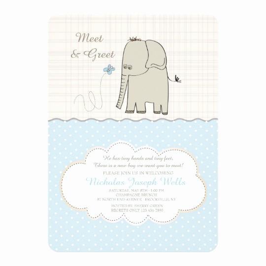 Meet and Greet Invitation Templates Beautiful Meet & Greet Baby Boy Invitation