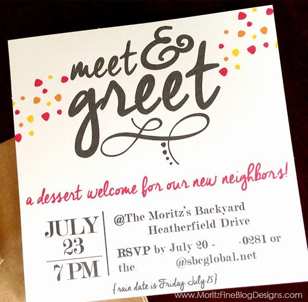 Meet and Greet Invitation Templates Beautiful Meet & Greet Free Printable Invitation
