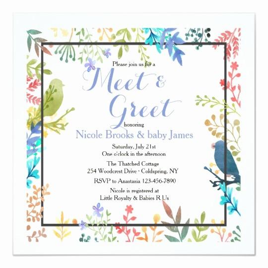 Meet and Greet Invitation Templates Beautiful Spring Frame Meet & Greet Invitation