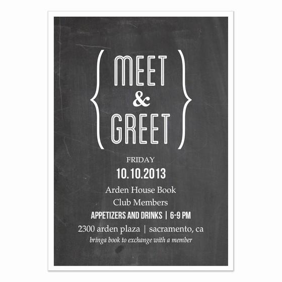 Meet and Greet Invitation Templates Inspirational Meet and Greet Invitations Meet and Greet Chalkboard