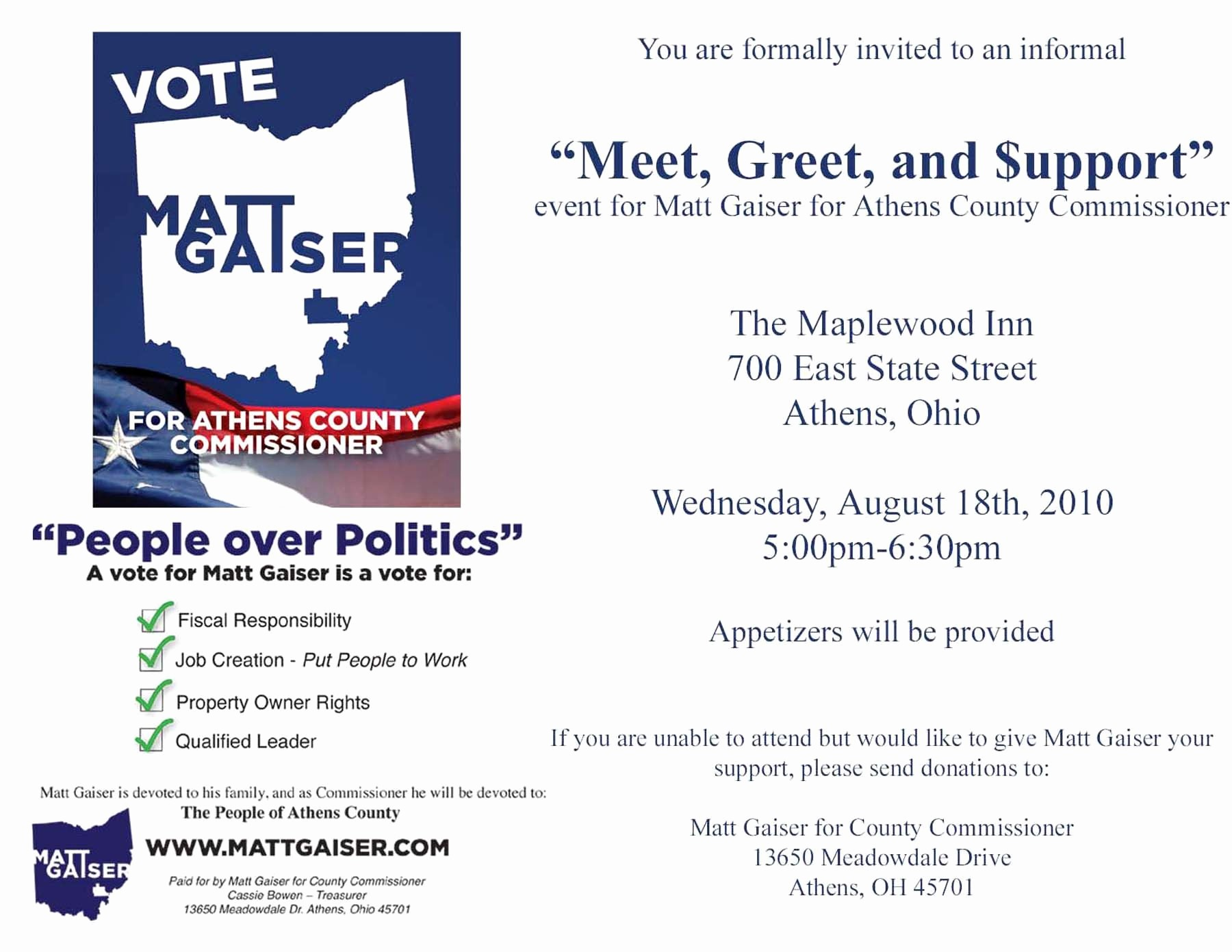 Meet and Greet Invitation Templates Inspirational Political Fundraiser Invitations